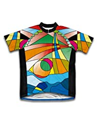 Mosaic Short Sleeve Cycling Jersey for Women