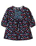 Beebay Infant-girl 100% Cotton Mashroom Printed Corduroy Dress (Navy,3-4 Years)