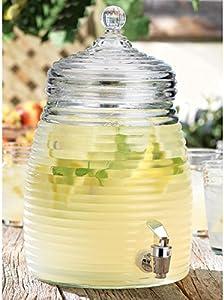 Beehive Glass Beverage Dispenser 2 Gallon