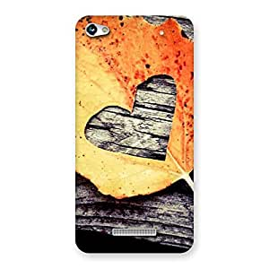 Cute Leaf Heart Back Case Cover for Micromax Hue 2