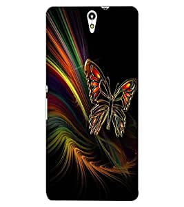 ColourCraft Lovely Butterfly Design Back Case Cover for SONY XPERIA C5 ULTRA DUAL