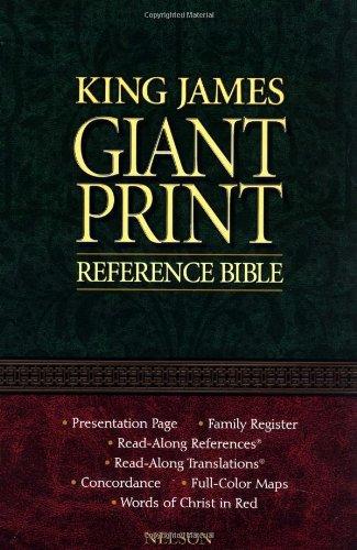 KJV, Reference Bible, Giant Print, Imitation Leather, Burgundy