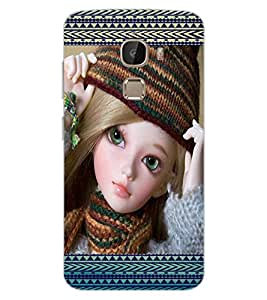 ColourCraft Lovely Doll Design Back Case Cover for LeEco Le 2