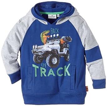TOM TAILOR Kids Jungen Kapuzenpullover hoody back on track/403, Einfarbig, Gr. 110 (Herstellergröße: 104/110), Blau (cosy blue)