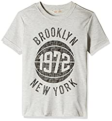 Fox Boys' T-Shirt  (Stone Melange_12 years_337257)