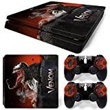 ZOOMHITSKINS PS4 Slim Skin Decal Sticker Venom Custom Design + 2 Controller Skins Set