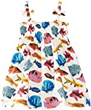 Rachel Riley Girl's Tropical Fish Print Ruched Dress
