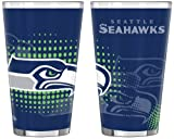 NFL Seattle Seahawks Half Tone Pint Glass, 16-ounce, 2-Pack