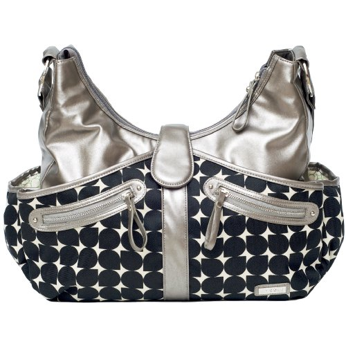 JJ Cole Swag Diaper Bag, Silver Drop