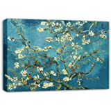 VAN GOGH BLOSSOMING ALMOND TREE FLORAL CANVAS ART MOUNTED READY TO HANG 30 X 20 INCH