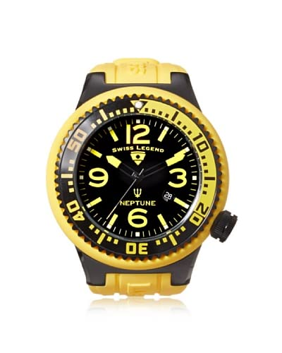 Swiss Legend Men's 21818P-BB-01-YBL Neptune Black/Yellow Silicone Watch