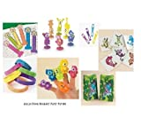 192 pc NEON MONKEY PARTY Favors/Girls Birthday LUAU/TROPICAL/Finger Puppets/Bracelets/TATTOOS, ETC