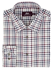 Pure Cotton Slim Fit Twill Checked Shirt