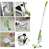1300 watt 6 in 1 Multi Purpose Professional Floor Steam Mop, Hand Held Steamer Floor Cleaner + 13 piece Accessory kit (Like H2O)