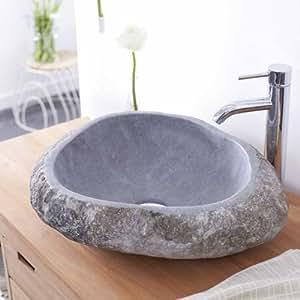 Vasque en pierre de rivière Galet Nobu Tikamoon