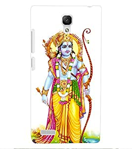 ColourCraft Lord Rama Design Back Case Cover for XIAOMI REDMI NOTE 4G