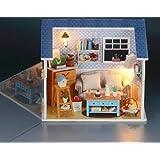 Dollhouse Miniature DIY Kit Cover Warm Secret Living Room Romantic Love Home for Valentine's gift