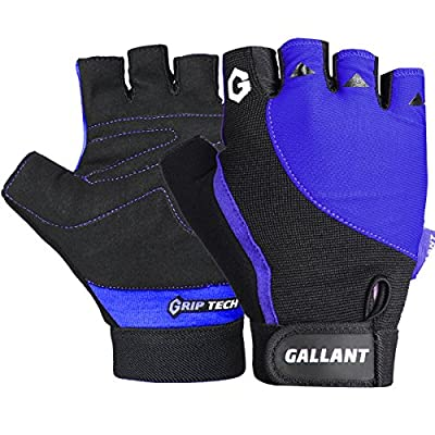 Gallant Microfiber Padded Gloves Cycling Bicycle Bike Ladies Mens Womens Pink Red Blue by Gallant Sports