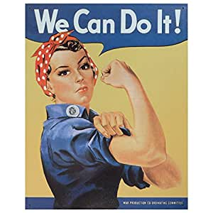 Amazon.com: Vintage Metal Art Rosie the Riveter Decorative Tin Sign