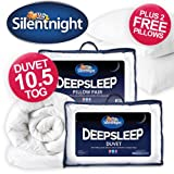 Silentnight Deep Sleep 10.5 tog Single Duvet & 2 FREE Deep Sleep Pillows