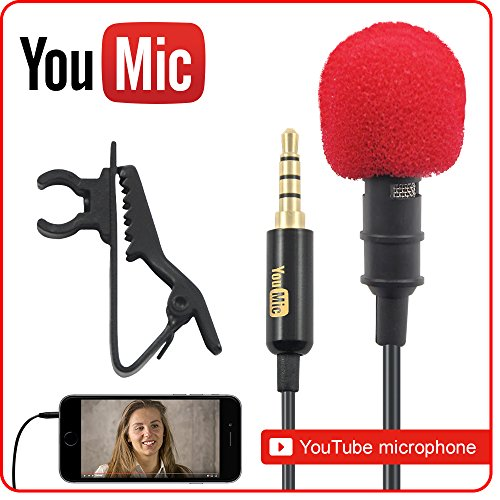 Lavalier-Lapel-Microphone--Omnidirectional-Mic-with-Easy-Clip-On-System--Perfect-for-Recording-Youtube-Interview-Video-Conference-Podcast-Voice-Dictation-iPhone