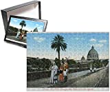 Photo Jigsaw Puzzle of Pope Pius X walks in the Vatican City with Papal Swiss Guard