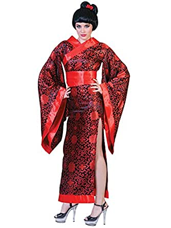 Amazon.com: Sexy Black and Red Geisha Costume Womens Long