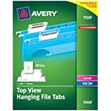 Avery Top-View Printable Hanging File Tabs, 1/5 Cut, Pack of 72 (5568)