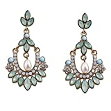 Cinderella Collection By Shining Diva Green Hanging Earrings