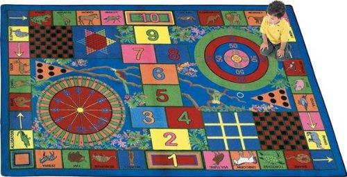 "Joy Carpets Kid Essentials Active Play & Juvenile Teacher's Pet Rug, Multicolored, 7'8"" x 10'9"""
