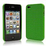 iPhone  4  ケース ハードプラスチック グリーン 液晶保護フィルム   USB充電ケーブル付 送料無料