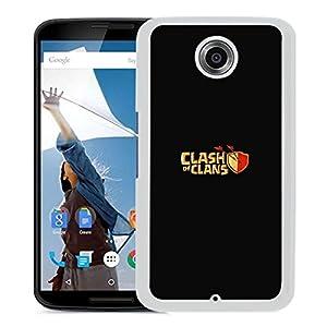 Nexus 6 With Aj Clash Of Clans Logo Art Dark Game (2) Phone Case