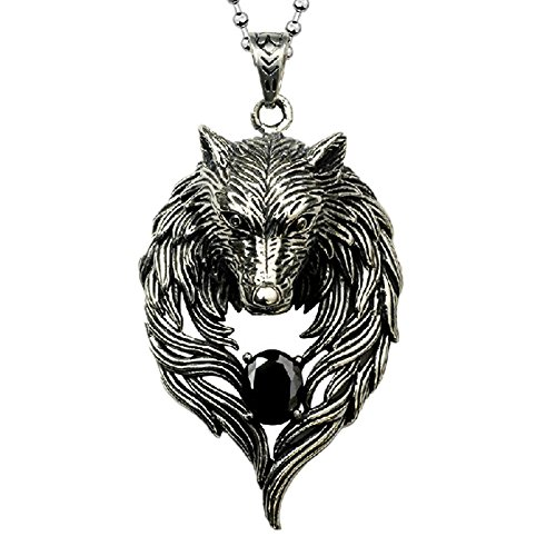 octchoco men necklace wolf pendant personality cool wolf