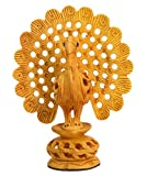 Made with Wooden Material Peacock Jali Work Fine Finishing and Carving Work by Bharat Haat BH00581