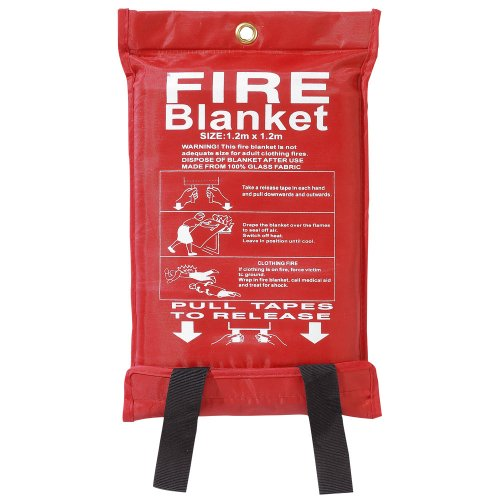 Fire Blanket Large Quick Release Fighting Tabs In Case 1M X 1M