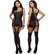 Plus Size Garter Dress Set