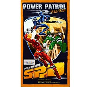 Kids/Childrens Power Rangers Operation Overdrive Cotton Beach/Bath Towel (70 x 140cm) (Blue)