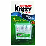 Krazy Glue KG82048SN Instant Crazy Glue Home & Office 4-Single Use Tubes of 0.017-Ounce