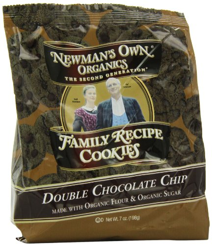 Newman's Own Organics Family Recipe Cookies, Double Chocolate Chip, 7-Ounce Bags (Pack of 6)