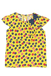 Chalk by Pantaloons Girl's Round Neck Blouse (205000005606648, Yellow, 3-4 Years)