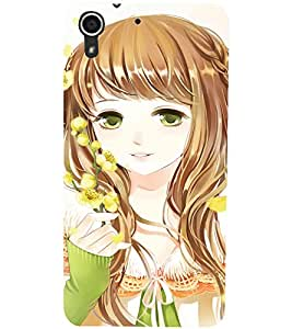 HTC DESIRE 728 BEAUTIFUL GIRL Designer Back Cover Case By PRINTSWAG