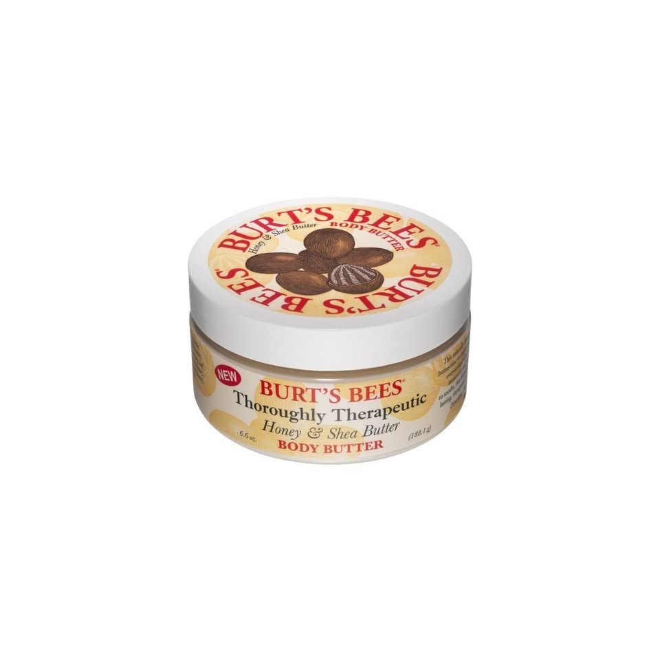 Burts Bees Thoroughly Therapeutic Honey & Shea Butter Body Butter 6.6 oz. (Pack of 3)