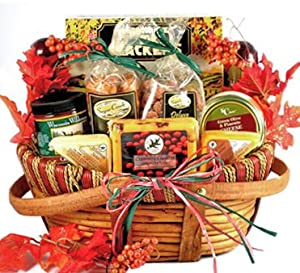 Meat and Cheese Thanksgiving Gourmet Gift Basket - Size Large