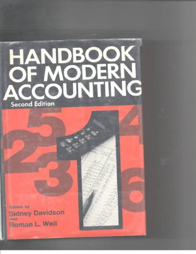 Handbook of modern accounting