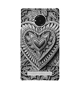Decorative Heart Design 3D Hard Polycarbonate Designer Back Case Cover for YU Yuphoria YU5010