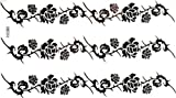GGSELL GGSELL waterproof non tonix temporary tattoos stickers sexy and cool black roses