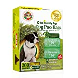 Green N Pack Dog-Waste Refill Bags, Compact Refill Packs, 200 Bags, 10 Rolls, More Bags & Less Waste