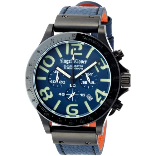 [エンジェルクローバー]Angel Clover 腕時計 Black Master Military ネイビー文字盤 ステンレス(BKPVD)ケース クロノグラフ BM46BNB-NB メンズ