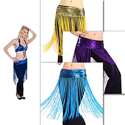 New Tribal Sequins Fringe Tassel Belly Dance Hip Scarf Costume Shawl