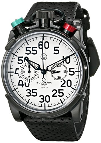 CT-Scuderia-Mens-CS20101-Analog-Display-Swiss-Quartz-Black-Watch